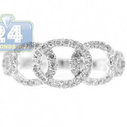 14K White Gold 0.44 ct Diamond Open Braided Womens Ring
