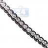 Womens Bezel Set Diamond Tennis Necklace 18K White Gold 4.16ct
