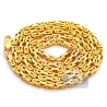 Mens Pure 24K Yellow Gold Solid Byzantine Chain Necklace 4 mm