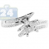 14K White Gold 0.20 ct Diamond Bypass Engagement Ring Setting