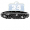 Black PVD 14K Gold 0.58 ct Mixed White Diamond Womens Band Ring