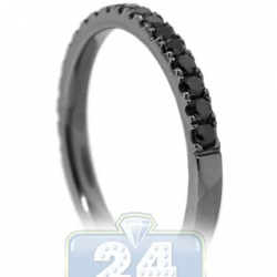 Black PVD 18K Gold 0.45 ct Diamond Womens Band Ring