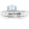 14K White Gold 0.16 ct Baguette Cut Diamond Womens Band Ring