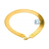 Pure 24K Yellow Gold Flexible Herringbone Chain Necklace 20 mm