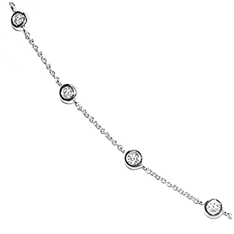 cbdad082e79d2 14K White Gold 1.13 ct Diamonds by the Yard Necklace 18 Inches