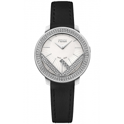 F710024011B0 Fendi Run Away 28mm Full Diamond White Watch