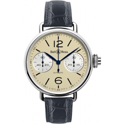 BRWW1-MONO-IVO/SCR Bell & Ross Chronographe Monopoussoir Ivory Watch