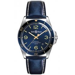 BRV292-BU-G-ST/SCA Bell & Ross Vintage BR V2-92 Aeronavale Watch