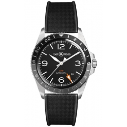 BRV293-BL-ST/SRB Bell & Ross Vintage BR V2-93 GMT Rubber Watch