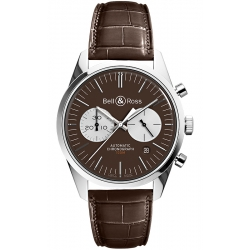 BRG126-BRN-ST/SCR Bell & Ross BR 126 Chrono Officer Brown Watch