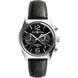 BRG126-BL-ST/SCR/2 Bell & Ross BR 126 Chrono Officer Black Watch