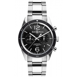 BRV126-BL-BE/SST Bell & Ross BR 126 Chrono Sport Steel Watch