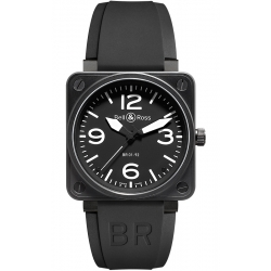 BR0192-BL-CA Bell & Ross BR 01-92 Carbon Black 46 mm Watch