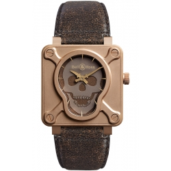 BR0192-SKULL-BR Bell & Ross BR 01 Skull Bronze 46 mm Watch