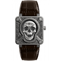 BR0192-SKULL-BURN Bell & Ross BR 01 Burning Skull 46 mm Watch