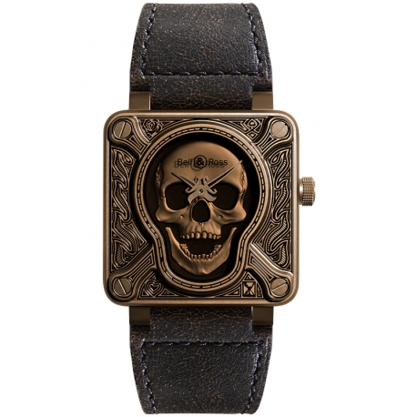 BR0192-BURNSK Bell & Ross BR 01 Burning Skull Bronze 46 mm Watch