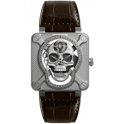 Bell & Ross BR 01 Laughing Skull 46 mm Watch BR01-SKULL-SK-ST