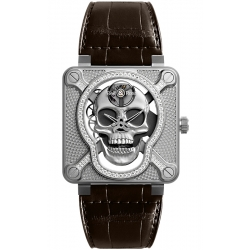 BR01-SKULL-SK-LGD Bell & Ross Laughing Skull Light Diamond Watch