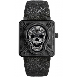 BR0192-AIRBOR-FLD Bell & Ross BR 01 Skull 672 Diamond 46 mm Watch
