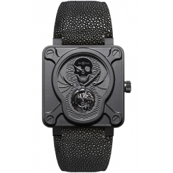 BR01-TOURB-AIRBORN Bell & Ross BR 01 Tourbillon Skull Watch