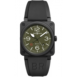 BR0392-MIL-CE Bell & Ross BR 03-92 Military Type Ceramic Watch