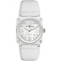 BR0392-WH-C/SCA Bell & Ross BR 03-92 White Ceramic 42 mm Watch
