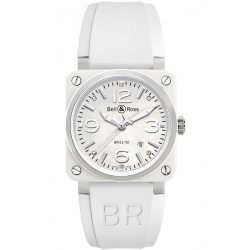 BR0392-WH-C/SRB Bell & Ross BR 03-92 White Ceramic 42 mm Watch