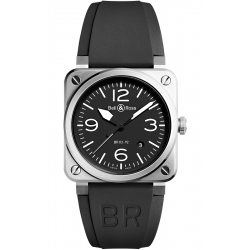 BR0392-BLC-ST Bell & Ross BR 03-92 Steel Black Dial 42 mm Watch