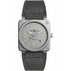 BR0392-GR-ST/SCA Bell & Ross BR 03-92 Horolum 42 mm Gray Watch
