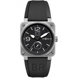 BR0390-BL-ST Bell & Ross BR 03-90 Grande Date Reserve De Marche Steel Watch