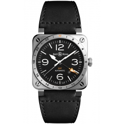 BR0393-GMT-ST/SCA Bell & Ross BR 03-93 GMT Steel 42 mm Watch