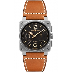 BR0394-ST-G-HE/SCA Bell & Ross BR 03-94 Golden Heritage Watch Chrono