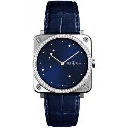 BRS-EA-ST-LGD/SCR Bell & Ross BR S Quartz Blue Eagle Diamonds Leather 39 mm Watch