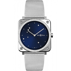 BRS-EA-ST-LGD/SST Bell & Ross BR S Quartz Blue Eagle Diamonds Mesh 39 mm Watch