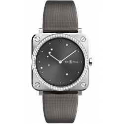BRS-ERU-ST-LGD/SCA Bell & Ross BR S Grey Eagle Diamonds Satin 39 mm Watch