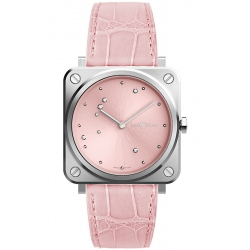 BRS-EP-ST/SCR Bell & Ross Quartz Pink Diamond Eagle Leather 39 mm Watch