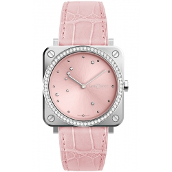 BRS-EP-ST-LGD/SCR Bell & Ross Quartz Pink Eagle Diamonds Leather 39 mm Watch