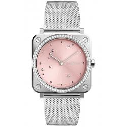 BRS-EP-ST-LGD/SST Bell & Ross Quartz Pink Eagle Diamonds Mesh 39 mm Watch