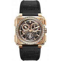 BRX1-CHTB-PG-D Bell & Ross Tourbillon 18K Rose Gold Diamonds Watch