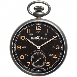 BRPW1-BL-TI Bell & Ross Vintage PW1 Heritage Brown Pocket Watch