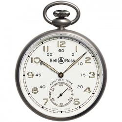 BRPW1-WH-TI Bell & Ross Vintage PW1 Heritage White Pocket Watch