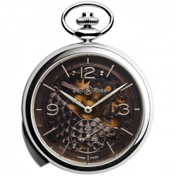 BRPW1-REPET-ARG-MI Bell & Ross PW1 Repetition Minutes Skeleton Pocket Watch