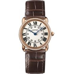 Cartier Ronde Louis Gold Quartz Unisex Watch WR000351
