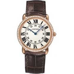 Cartier Ronde Louis Gold Diamond Mens Watch WR000651