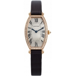 Cartier Tonneau 18K Rose Gold Diamond Ladies Watch WE400331