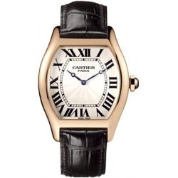 Cartier Tortue Collection 18K Rose Gold Mens Watch W1546051