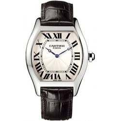 Cartier Tortue Collection Platinum Mens Watch W1546151