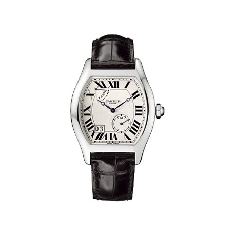 Cartier Tortue Collection 18K White Gold Mens Watch W1545951