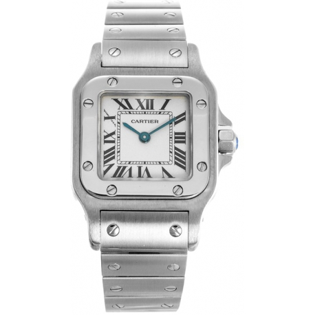 Cartier Classic Santos Series Steel Womens Watch W20056D6