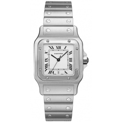 Cartier Classic Santos Stainless Steel Mens Watch W20060D6